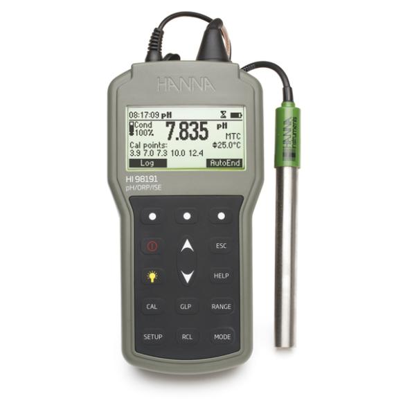 pH-/mV-/ionomètre portatif professionnel étanche